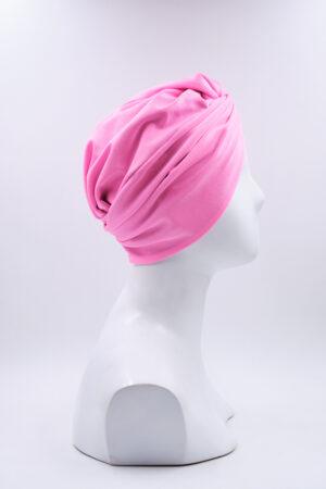 Turbante Elsa Lycra Rosa Flamingo
