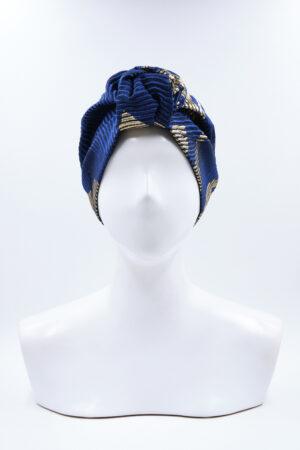 Turbante Agata Blu Argento