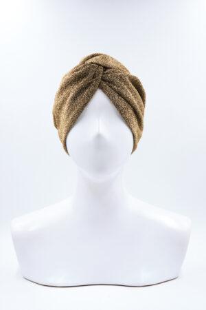 Turbante Elsa Glitter Oro